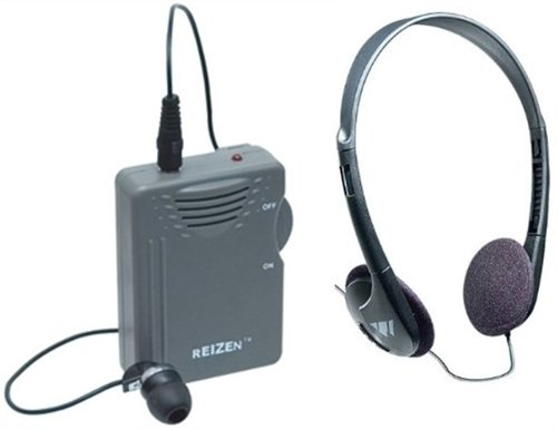 Elite Package: Reizen Loud Ear 120dB Gain Personal Amplifier with Earphone and Extra Headphones ()