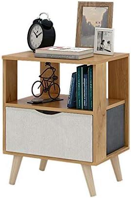ナイトテーブル ウッドナイトスタッカブルサイドテーブルエンドテーブルベッドサイドテーブル高級Bedroom37cmX30cmX44cm ホーム家具 (色 : ベージュ, サイズ : 37cmX30cmX44cm)