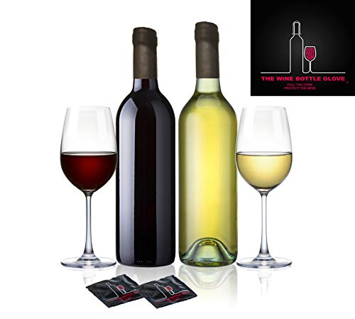 Condom Style Stoppers   The Wine Bottle Glove   Air & Water-Tight Seal For Wine Bottles   Fully Reusable, FDA-Approved Latex   Funny Wine Novelty   7, 10 or 14 Condom-Style Packets   Gift Box Included