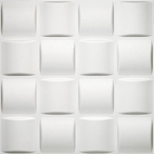 Ben&Jonah Collection Donny Osmond Basket Weave 19.6x19.6 Self Adhesive Wall Tile - 10 Tiles/26.70 sq Ft.
