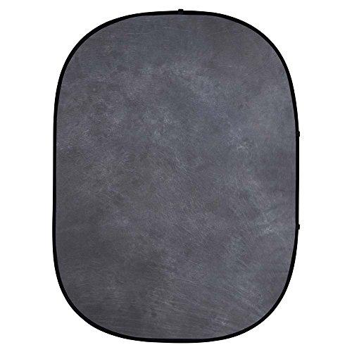 - Interfit PB101 Studio Essentials Collapsible - 5' x 6.5' Pop-Up Background Muslin, Dark Gray/Light Gray