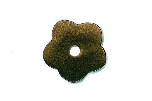 Top Knobs Top Knobs Aspen Flower Backplate, Light Bronze, Metal (16in Flower Cabinet Knob)