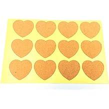 240pcs Heart-shaped Blank Kraft Paper Self-adhesive DIY Sticker Sealing Paster Label(35X32mm,Brown) By Alimitopia