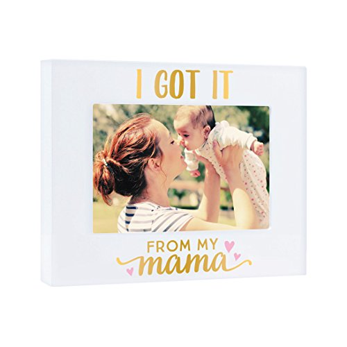 Pearhead I Got It from My Mama Photo Plaque, White -