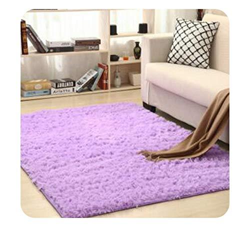 Plush Soft Shaggy Alfombras Carpet Area Rug Non-Slip Floor Mats for Living Room Bedroom Home Decoration Supplies,Voilet,50cm x 120cm