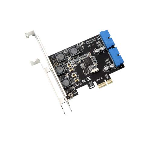 PCI-E X1 to 2 Ports 19 Pin USB 3.0 Header PCI Express to Dual 20 Pin USB 3.0 Card by Mustpoint