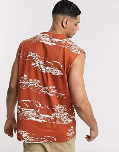 アナザーインフルエンス タンクトップ ノースリーブ アームホール メンズ Another Influence sleeveless t-shirt vest in tro [並行輸入品]