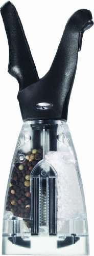 Chef'n Dual Salt and Pepper Grinder (Black Finish)