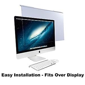 "Blue Light Screen Protector Panel For Apple iMac 27″ Diagonal LED Monitor (W 25.31″ X H 15.08""). Blue Light Blocking up to 100% of Hazardous HEV Blue Light. Reduces PC Eye Strain."