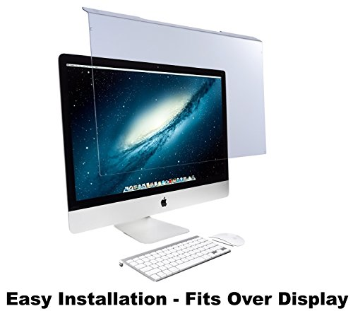 Blue Light Screen Protector Panel for Apple iMac 21.5' Diagonal LED Monitor (W 20.63' X H 12.56'). Blue Light Blocking up to 100% of Hazardous HEV Blue Light. Reduces PC Eye Strain.