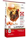 Purina Layena+ | Nutritionally Complete Layer Hen Feed | Omega 3 Formula - 40 Pound (40 lb) Bag