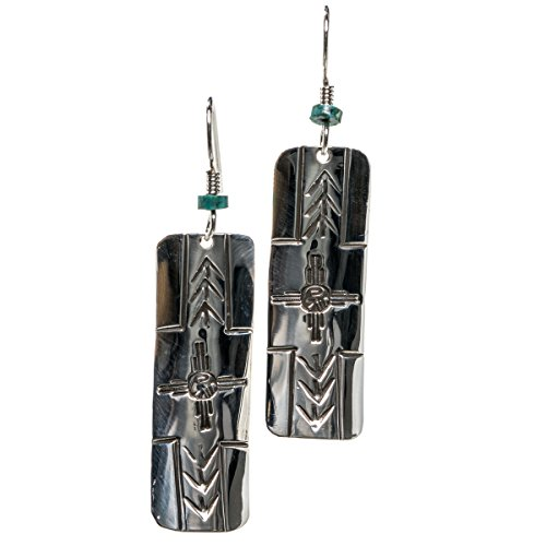 TSKIES Classic Handmade Attune Sterling Silver Dangle Earrings Native American Jewelry