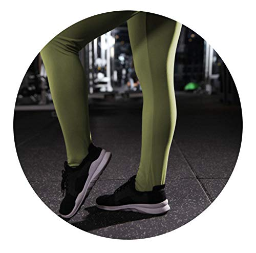 (Pursuit-of-self Women Sports Yoga Pants Slim Exercise Fitness Leggings Sexy Push Up Pants with Pockets Ladies Solid Color Gym Leggings,Style2 Green,XL)