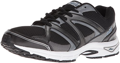 Avia Men's Avi-Execute-II Running Shoe, Black/Metallic Iron Grey/Chrome Silver, 12 M US