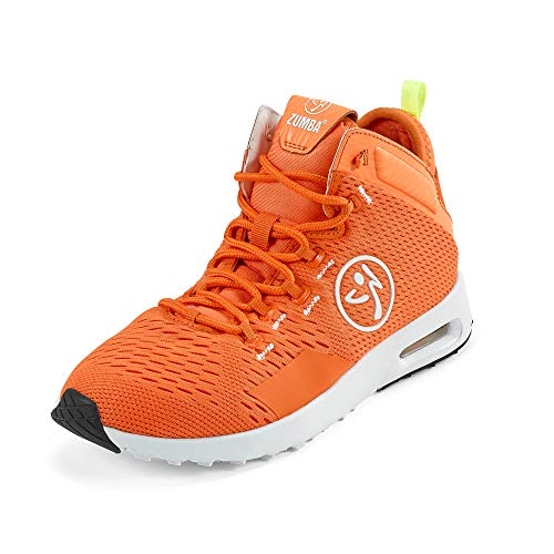 Zumba Air Classic Athletic High Top Shoes Dance Fitness Workout Sneakers for Women Orange
