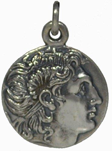 Alexander The Great Lysimachos Silver Coin Pendant - Macedonia-Vergina King ()