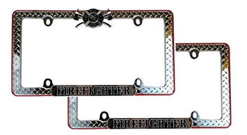 license plate frame firefighter - 5