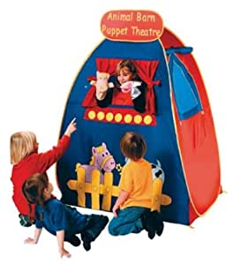 ANIMAL Barn pop up PUPPET Theater tent w/ Puppets INCLUDED