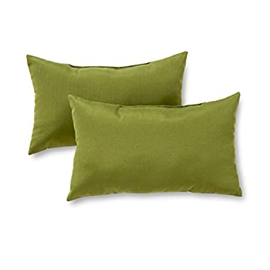 Greendale Home Fashions Rectangle Indoor/Outdoor Accent Pillows, Summerside Green, Set of 2