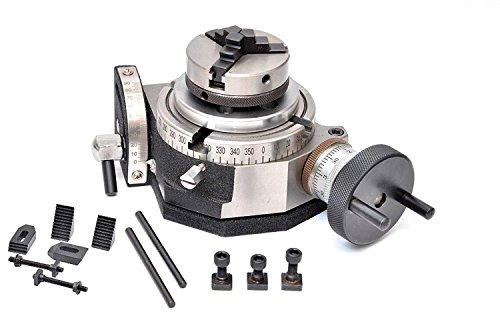 """Rotary Table 4""""/100mm Tilting with 65mm Lathe Chuck & Clamping Kit (1)"""