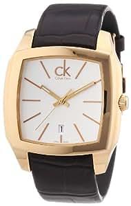 Calvin Klein Calvin Klein Recess K2K21620 - Reloj analógico de cuarzo para hombre, correa de cuero color marrón