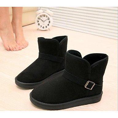 polar para invierno Mujer botas Casual amarillo negro Desy marrón botas de de nieve Zapatos tobillo forro negro plano botas de moda talón botas de botines dHfqI0