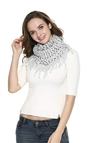 Scarf for Women Winter Circle Lattice Chunky The Twins Dream, 506grey, One Size ()