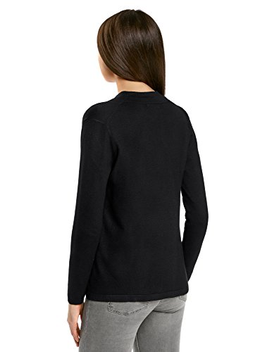 Collection Oodji Chiusura Cardigan Nero Senza 2900n Largo Donna aqxqO74