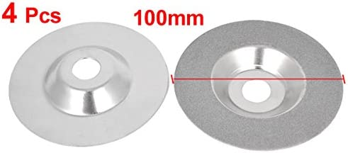 uxcell 3.9 inches Dia Diamond Coated Glass Grinding Cutting Cut-Off Wheel Disc 4pcs