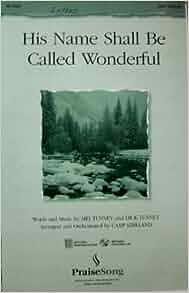 his name is wonderful sheet music pdf