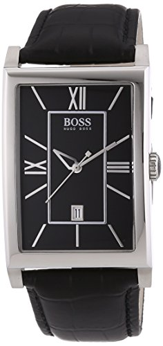 Hugo Boss 1512385 40mm Stainless Steel Case Black Leather Mineral Women's Watch