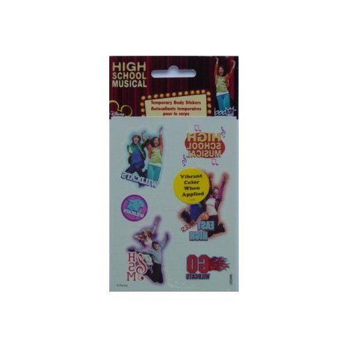 High School Musical Temporary Body Stickers [Toy]