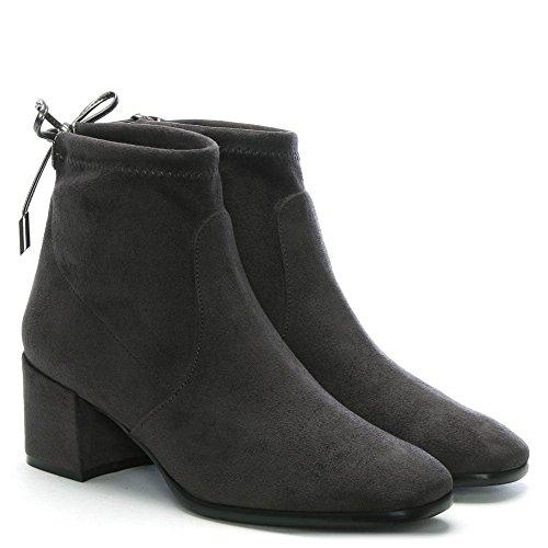 Daniel Tollar Grey Stretch Suede Ankle Boots Grey Suede