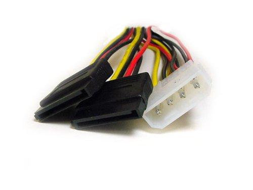 1 X 5.25 to 2 15 pin SATA power connecto... SATA Serial ATA Splitter Power Cable