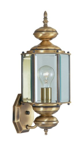 Antique Brass Porch Light in US - 8