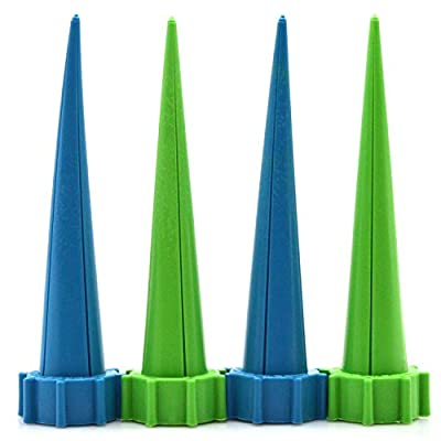 SCHOME Automatic Garden Cone Watering Spike Water Control Drip Cone Spike Flower Plant Waterers Bottle Irrigation System Care Your Flowers,Pack of (4)