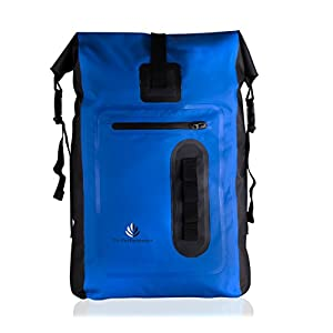 Waterproof 30L Dry Bag Roll-Top Backpack: Durable Lightweight PVC Tarpaulin Protects Your Gear With This Foldable Dri Bag Rucksack When Outdoors Rafting SUP Boating Camping Hiking Kayaking (Blue)