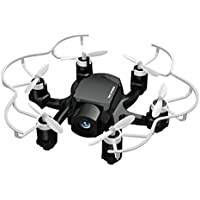 Chinatera Spider Mini RC Quadcopter FQ777-126C RC Drone with 2.0MP HD Camera 3D Flip 2.4Ghz 6-Axis Gyro for Beginner (Black)