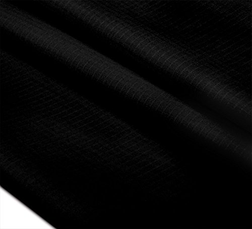 "HENGDA KITE 60""x36""(1 Yard) Upgrades 40D Ripstop Nylon Fabric By The Yard Pre-cut Waterproof Outdoor-Black"