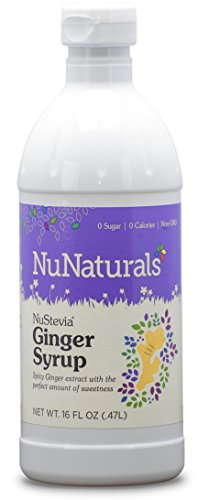 NuNaturals NuStevia Ginger Syrup Organic Ginger With the Perfect Amount of Sw…
