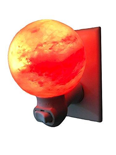 Dream Salts Himalayan Salt Nursery Night Light / Crystal Rock Decor / Natural Air Purifier (Sphere)