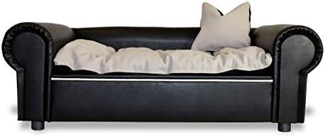 Perros sofá Columbus Chesterfield XXL piel sintética NEGRO cama para perros nuevo: Amazon.es: Productos para mascotas