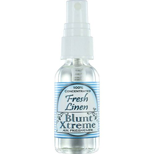 Blunt Xtreme Fresh Linen Type Air Freshener – 100% Ultra Concentrated Oil Based Spray - Ideal For Bathroom, Home, Car, Office & More - Soothing Properties - Long Lasting Effects - 1oz Bottle