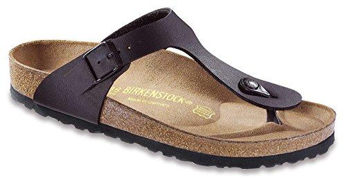 0376d94b1537 Birkenstock Women s Gizeh Birko Flor Regular Fit Toe-Post Sandal  Black-Black-7.5 (B000KC5XQ4)