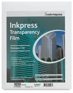 (Inkpress Transparency, Resin Based Inkjet Film, 7mil., 8.5x11