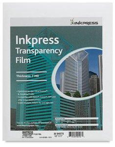 Inkpress Transparency, Resin Based Inkjet Film, 7mil., 8.5x11