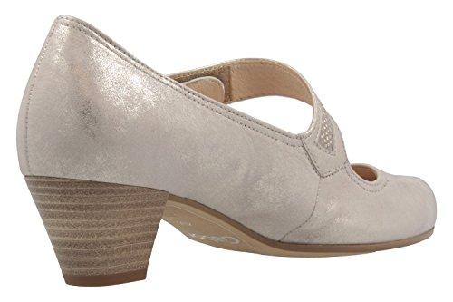 Gabor Comfort - Vrouwen Gesp Pompen - Platinum Schoenen In De Maten Over Beige