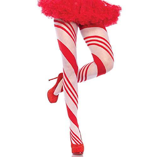 Leg Avenue Womens Reindeer Striped Tights