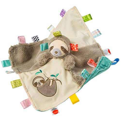 Taggies Soothing Sensory Stuffed Animal Security Blanket, Molasses Sloth, 13 x 13