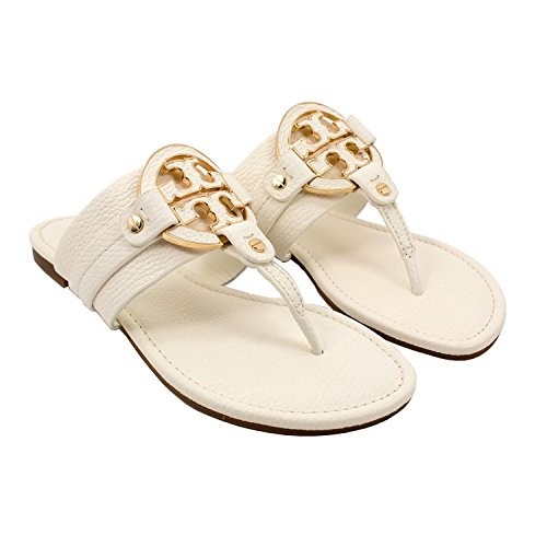 a163cdf125af Tory Burch Amanda Flat Thong Tumbled Leather Sandals Bleach Size 7 - Buy  Online in Oman.